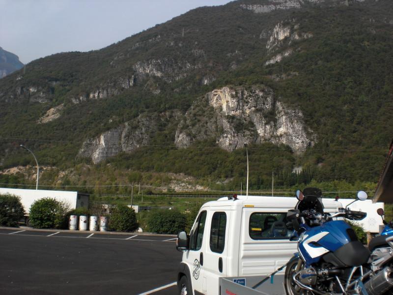 Als die Berge in Sichtweite kamen, habe ich die Q noch fester gespannt...nicht das die scheut und in die Berge flüchtet ;-)