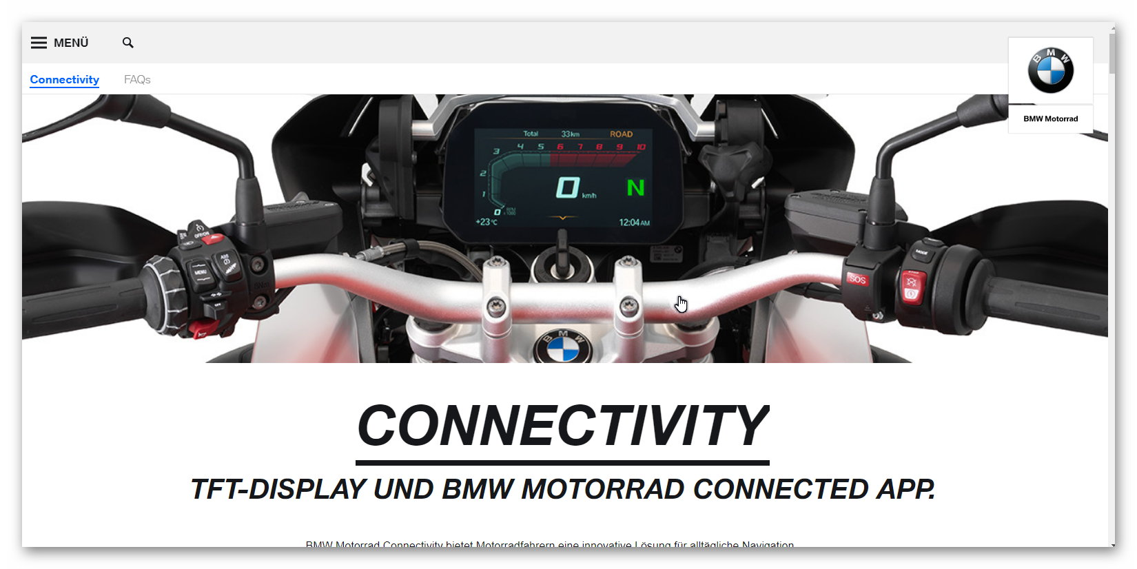 hat schon jemand die bmw motorrad connected app auf tomtom. Black Bedroom Furniture Sets. Home Design Ideas
