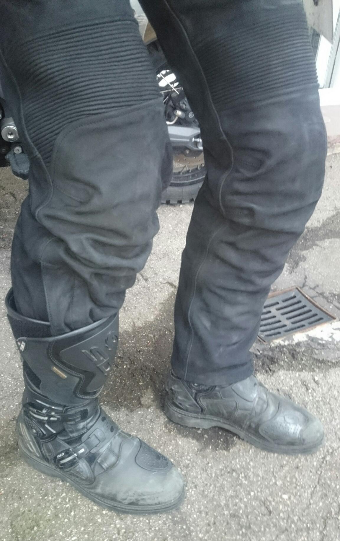 Hose rutscht aus stiefel
