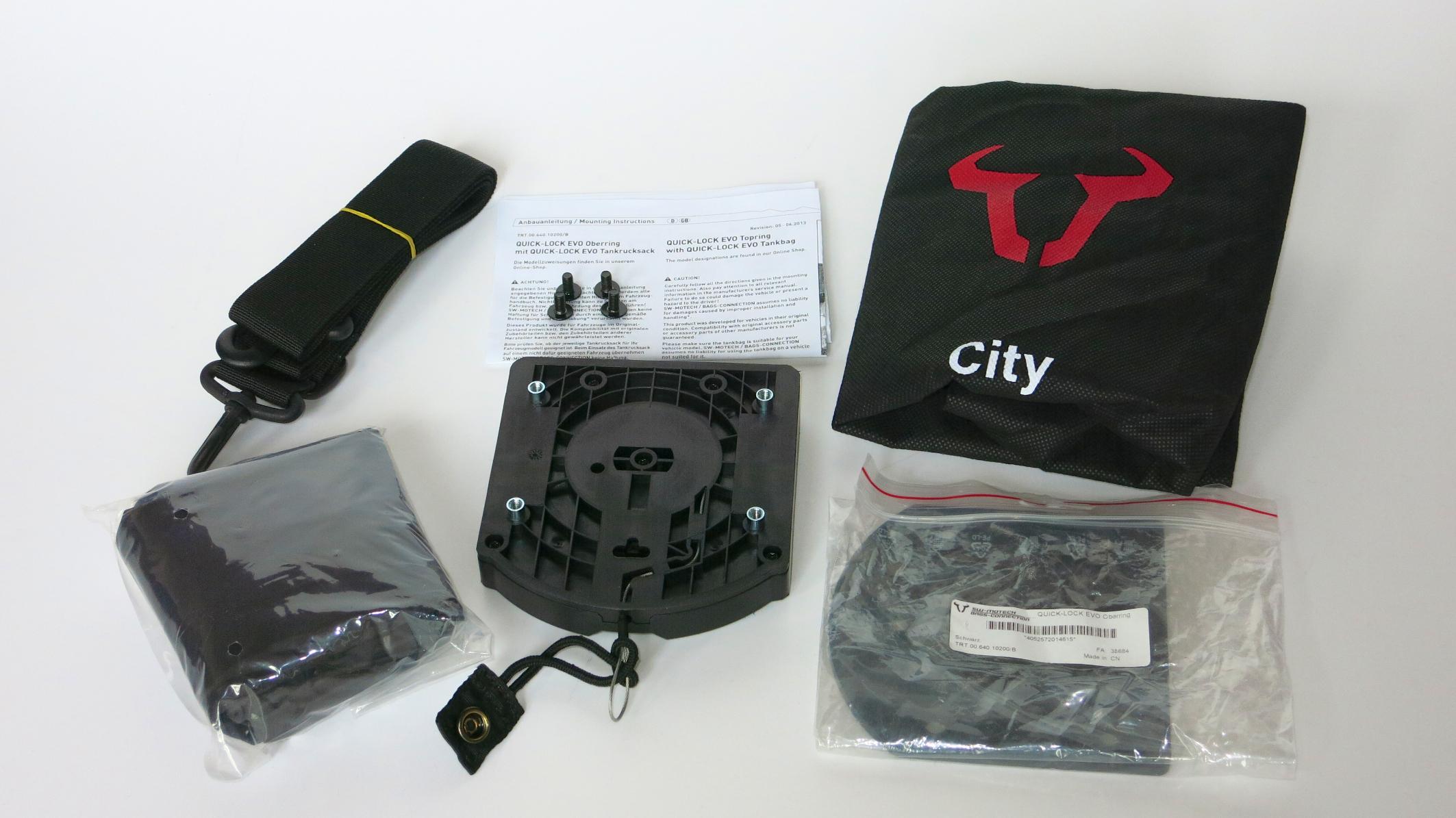erledigt tankrucksack quick lock evo city sw motech bags. Black Bedroom Furniture Sets. Home Design Ideas