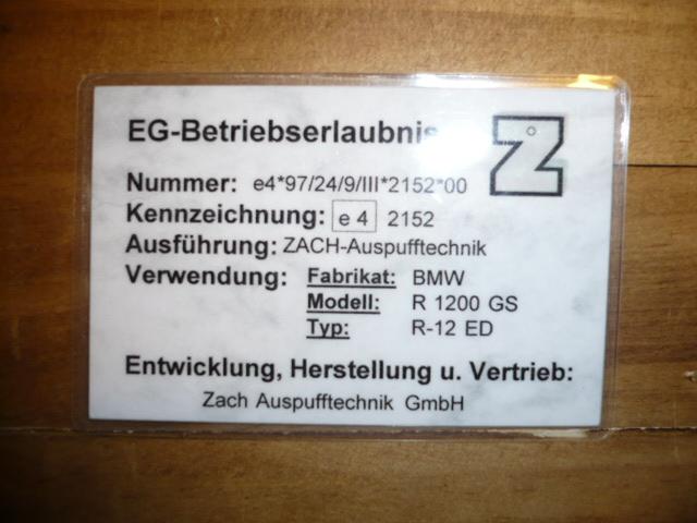 zach e nummer e4 2152 freigabe f r 08er m. Black Bedroom Furniture Sets. Home Design Ideas