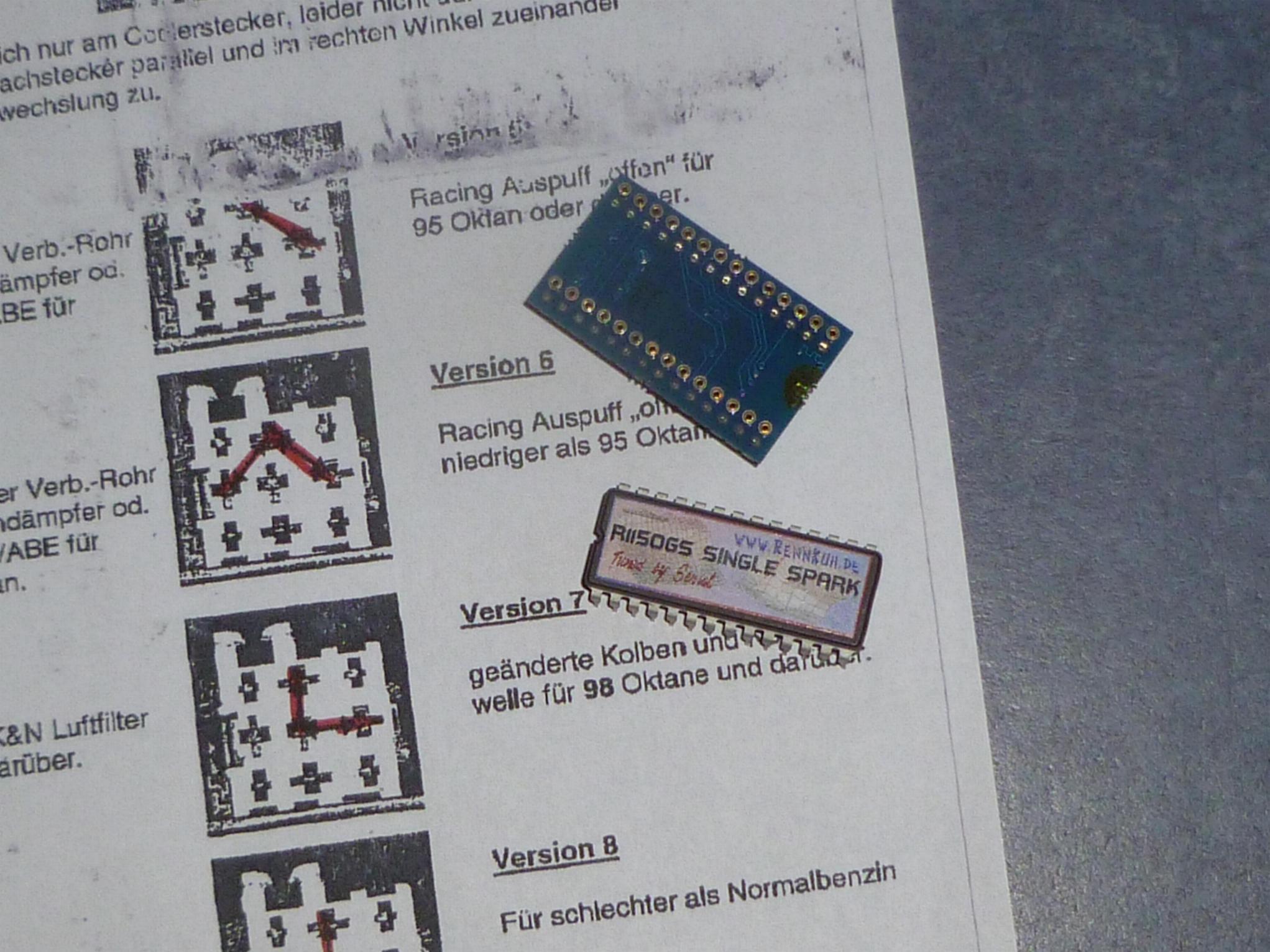 Erledigt Rennkuh Chip F 252 R 1150gs