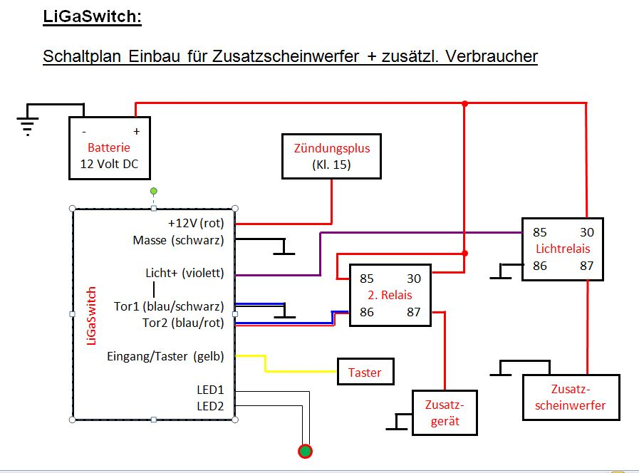 Elektronischer Schalter für Zusatzscheinwerfer u ...