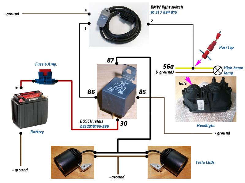 Schalter Kabelbelegung Zusatzscheinwerfer